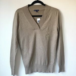 Gap Light Brown V-Neck Sweater